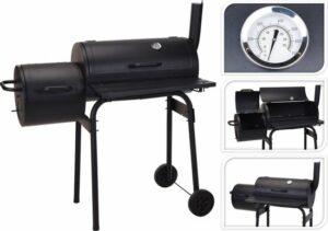 Bbq Houtskoolbarbecue Zwart Metaal 121x122x55cm