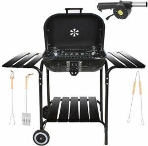 EASTWALL Barbecue charcoal shelf grill - XL - Zijtafel - mobiel - BBQ